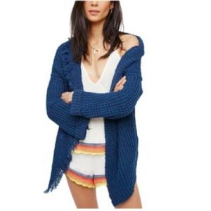 Free People I'll Be Around Cardigan in Navy Sz M